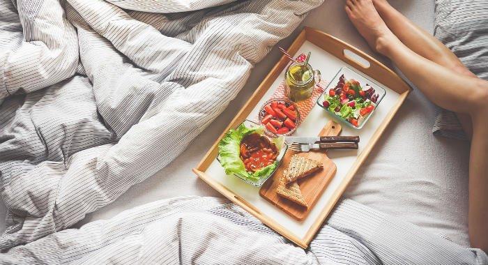 Food affects sleep