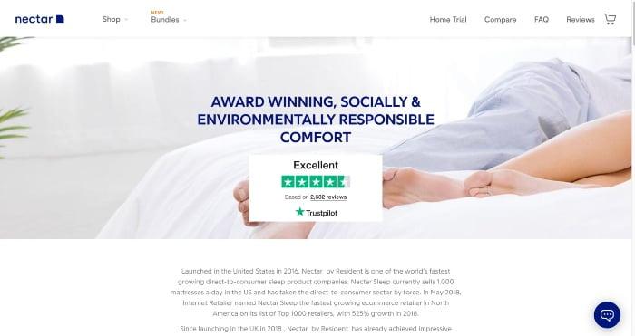 Nectar Sleep Awards