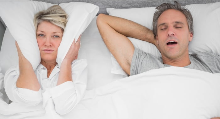 Sleep apnoea is different from snoring.