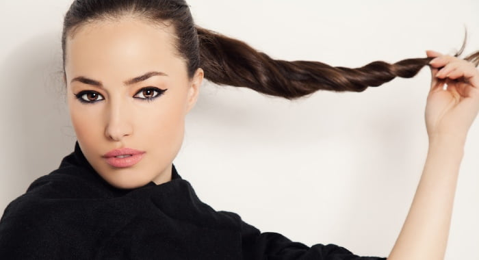 If you do a normal ponytail and add extra hair bands in every inch of it, it will help to preserve its shape.