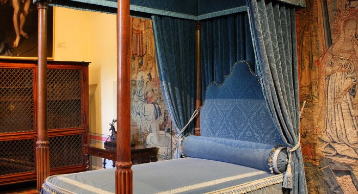 When beds began to be seen as symbols of power, they started to be heavily and expensively decorated.